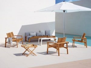 Garden Life Outdoor Living – 'Amaze' Lounge teakfa kerti garnitúra
