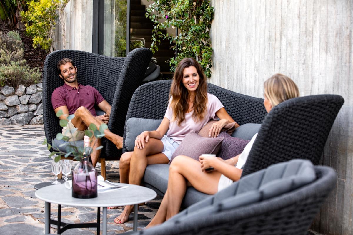Garden Life Outdoor Living – 'Peacock' Lounge magas hátú fotel