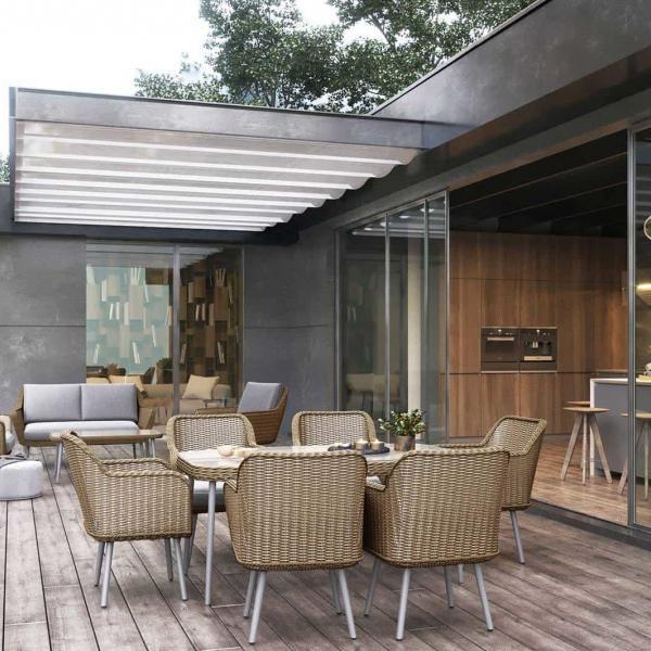 Garden Life Outdoor Living - Oltre ASTI kerti rattan étkező garnitúra