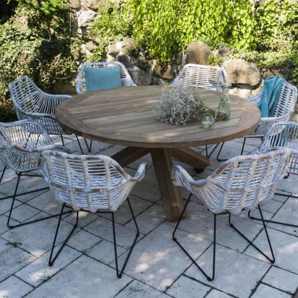 Garden Life Outdoor Living - Vimine BOURDEAUX I kerti étkező garnitúra
