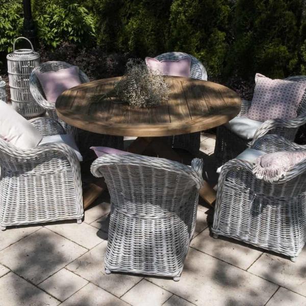 Garden Life Outdoor Living - Vimine BOURDEAUX VI kerti étkező garnitúra