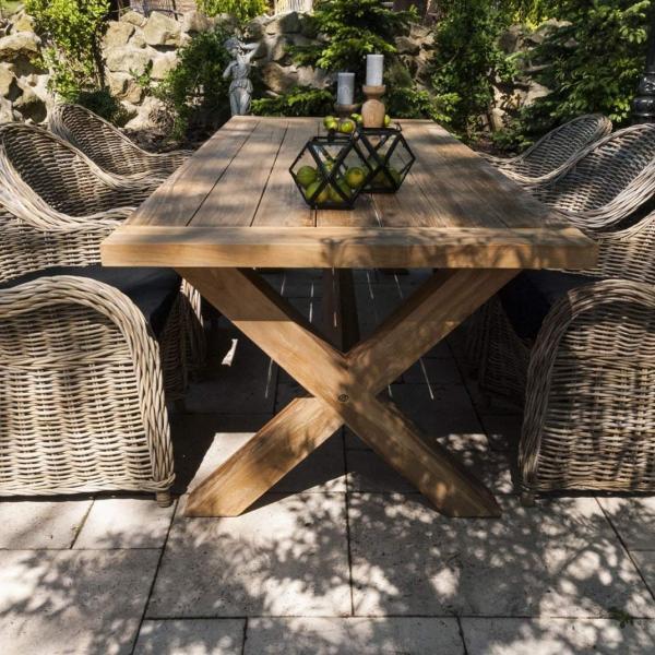 Garden Life Outdoor Living - Vimine LYON VI kerti étkező garnitúra