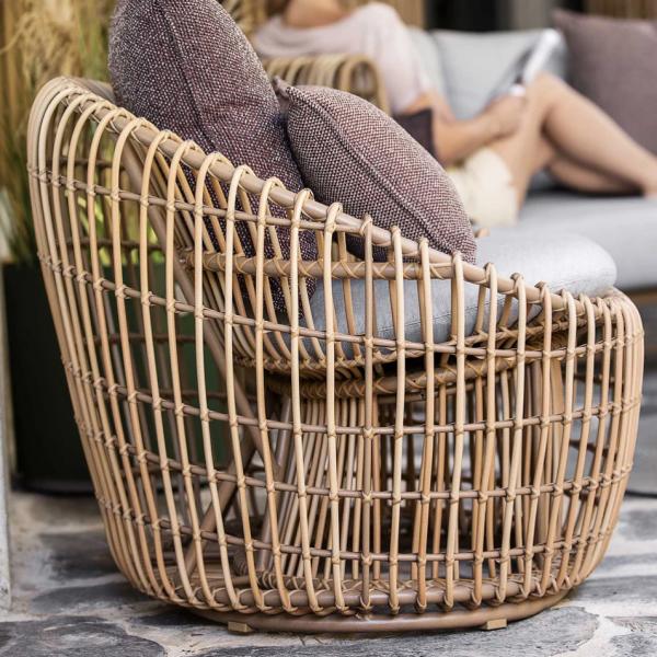 Garden Life Outdoor Living - Cane-line 'NEST' kerek rattan kerti fotel