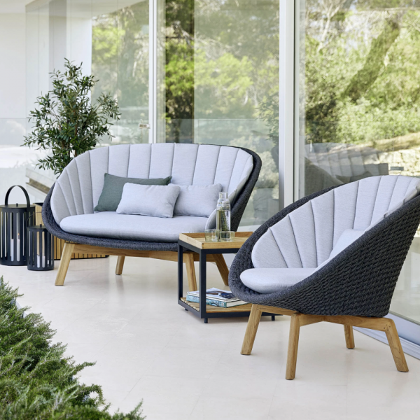 Garden Life Outdoor Living - Cane-line 'PEACOCK' Lounge fotel