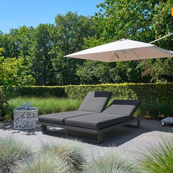 Garden Life Outdoor Living - LIFE 'Fitz Roy' dupla napozóágy