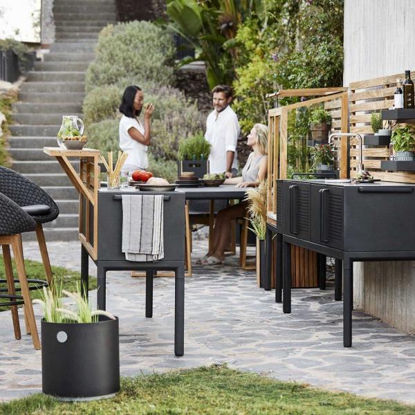 Garden Life Outdoor Living - Cane-line DROP kerti konyha modul teakfa bárpulttal